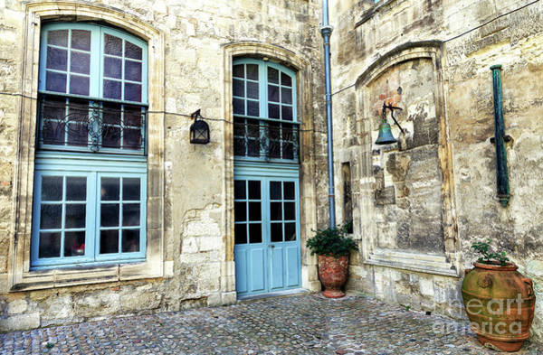 Photograph - Avignon Courtyard by John Rizzuto