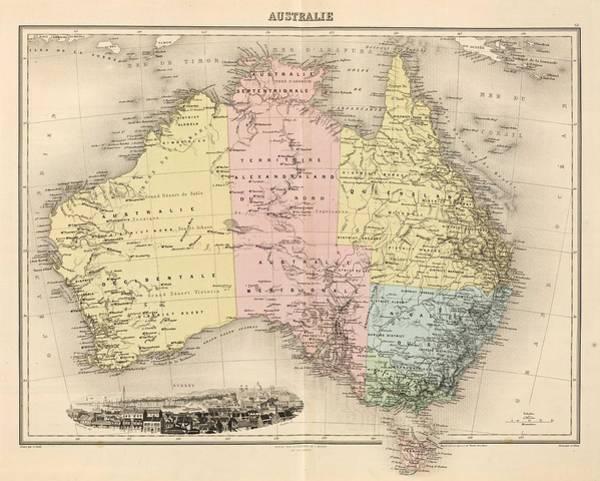 Wall Art - Painting - Avustralia, Australie  1892  by Celestial Images