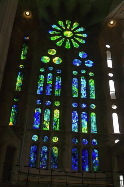 Photograph - Awesome Light - Sagrada Familia Basilica Barcelona by Georgia Mizuleva