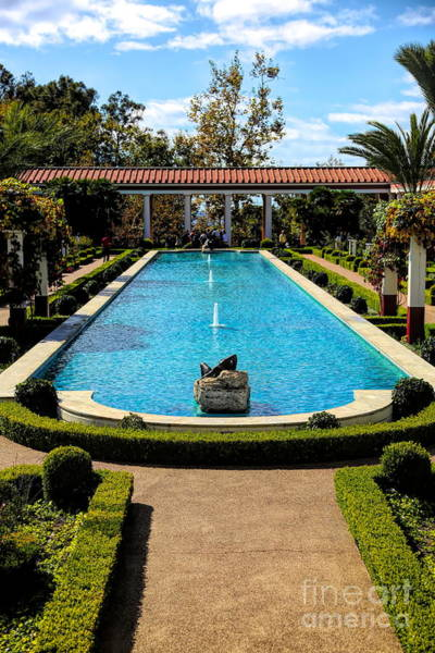 Wall Art - Photograph - Awesome View Getty Villa Pool  by Chuck Kuhn