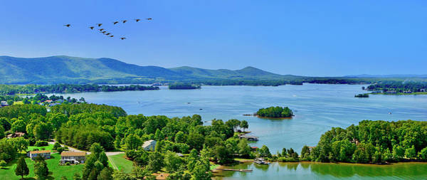 Photograph - Awesome Wide Pano Smith Mountain Lake by The American Shutterbug Society