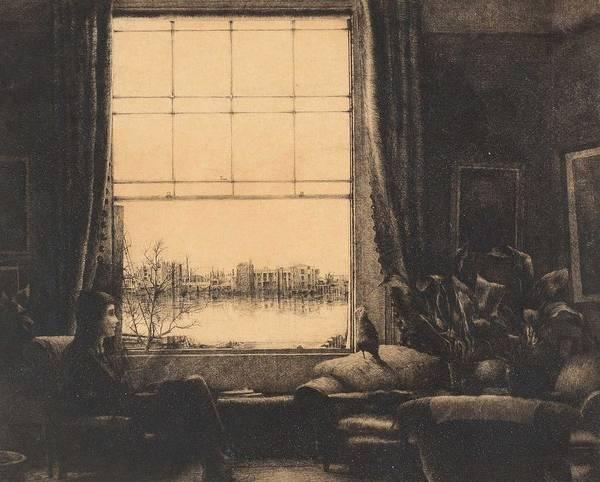Wall Art - Painting - Axel Fridell,  The Window  Ett Londonhem, Vauxhall, London   1926-27 by Axel Fridell
