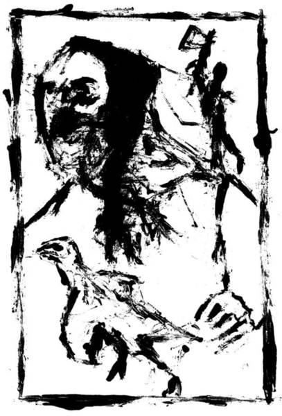 Digital Art - Axeman Digitally Whitened Paper by Artist Dot