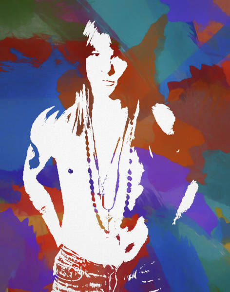 Wall Art - Painting - Axl Rose Color Blast by Dan Sproul