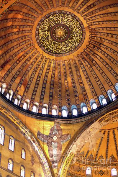 Sancta Sophia Photograph - Aya Sofya Ceiling Istanbul by John Rizzuto
