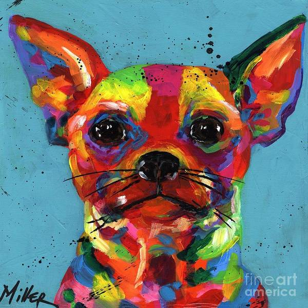 Wall Art - Painting - Aye Chihuahua by Tracy Miller