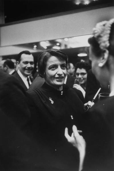 Content Photograph - Ayn Rand by Alfred Eisenstaedt