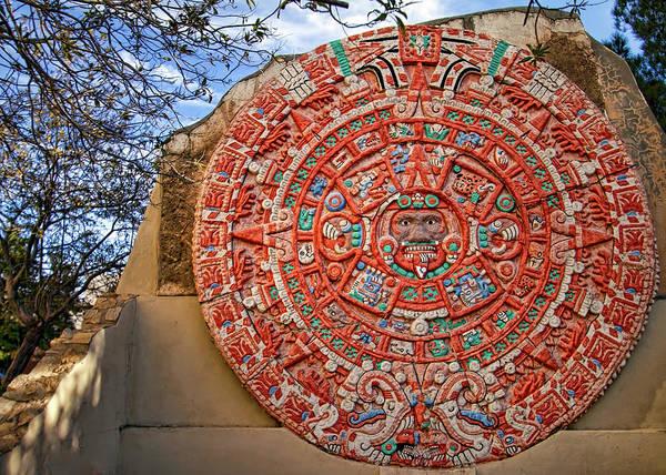 Downtown El Paso Photograph - Aztec Calendar by William Chizek