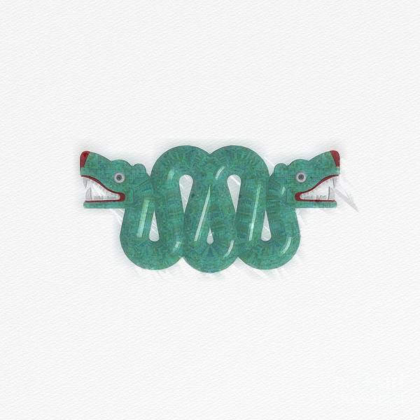 Serpent Painting - Aztec Serpent by Raphael Terra