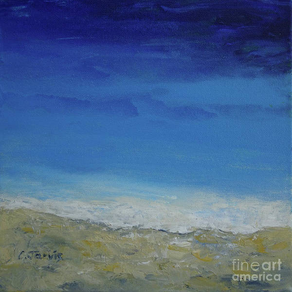 Painting - Azure Sea by Carolyn Jarvis