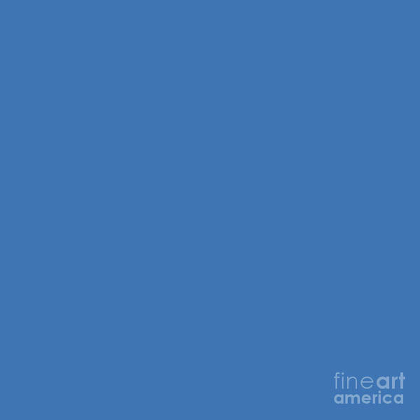 Photograph - Azure Strong Blue Solid Matte by Sharon Mau