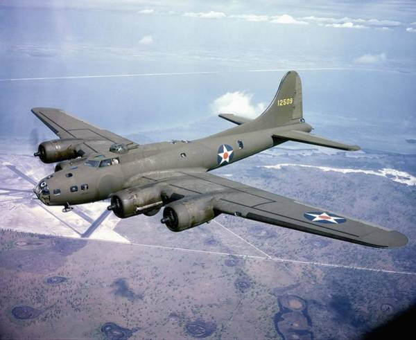 Photograph - B-17 Bombers En Route To England by Michael Ochs Archives