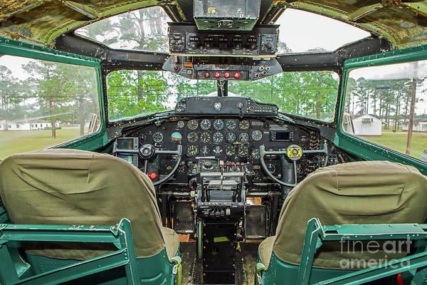 Wall Art - Photograph - B-17 Flight Deck by Rick Mann