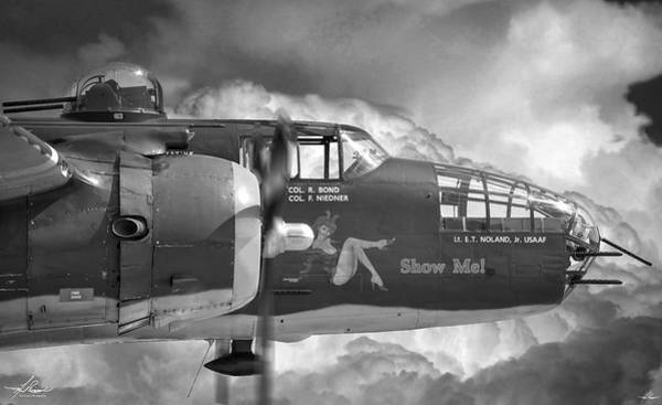 Photograph - B-25 Mitchell Show Me by Philip Rispin
