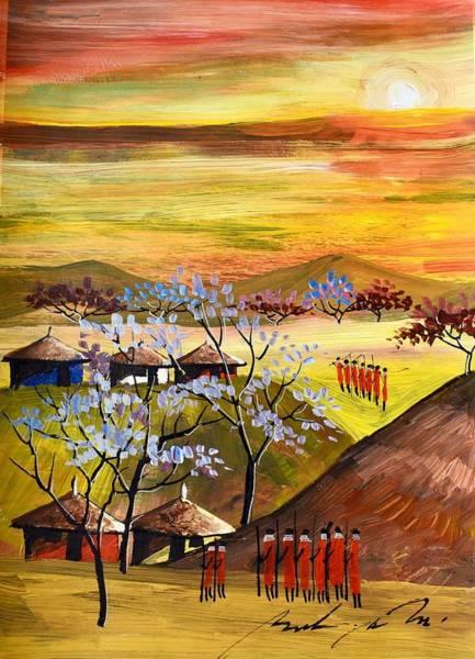 Painting - B-409 by Martin Bulinya