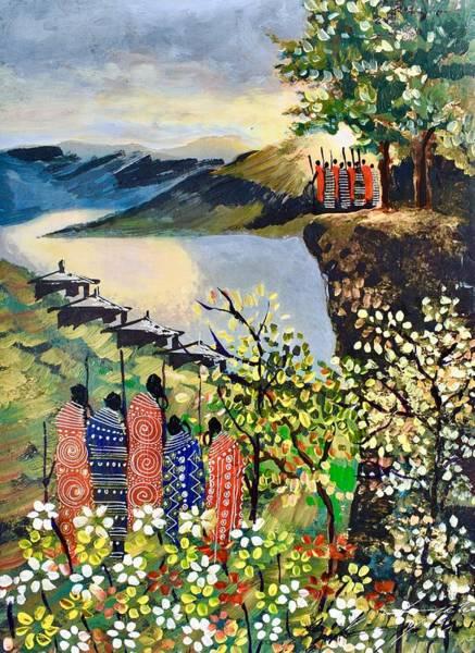 Painting - B-411 by Martin Bulinya