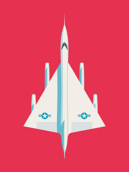 Wall Art - Digital Art - B-58 Hustler Supersonic Jet Bomber - Crimson by Ivan Krpan