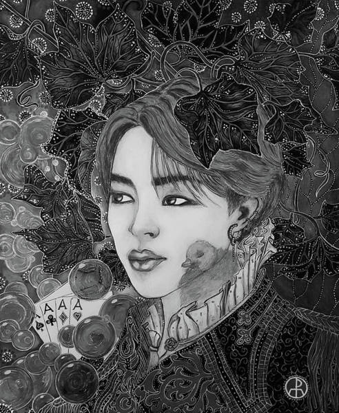 Painting - B T S Jimin by Ellie Perla