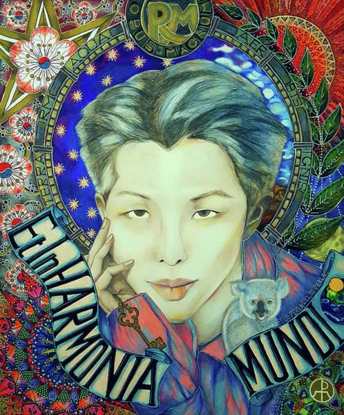 Painting - B T S Namjoon Or R M by Ellie Perla