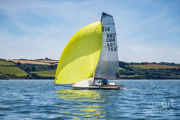 Photograph - B14 Yellow Spinnaker by Brian Roscorla