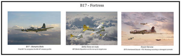 Wall Art - Digital Art - B17 Fortress - Story Board by Pat Speirs