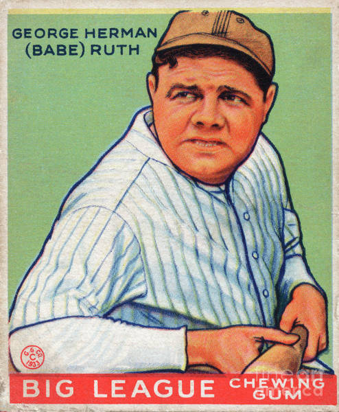 Wall Art - Photograph - Babe Ruth Baseball Card 1933 by Jon Neidert