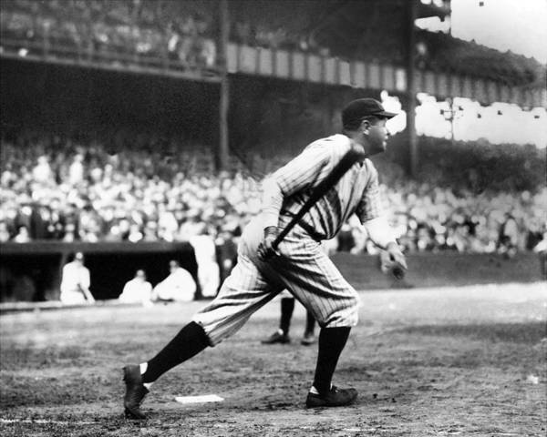 Wall Art - Photograph - Babe Ruth Batting During The 1926 by New York Daily News Archive