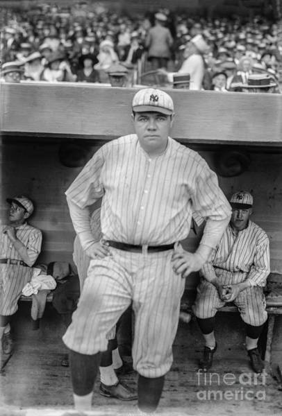 Wall Art - Photograph - Babe Ruth With The Yankees by Jon Neidert