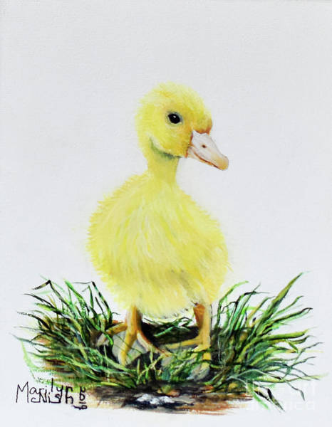 Painting - Baby Duckling by Marilyn McNish