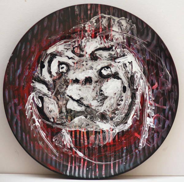 Ceramic Art - Baby Faced Plate by Artist Dot