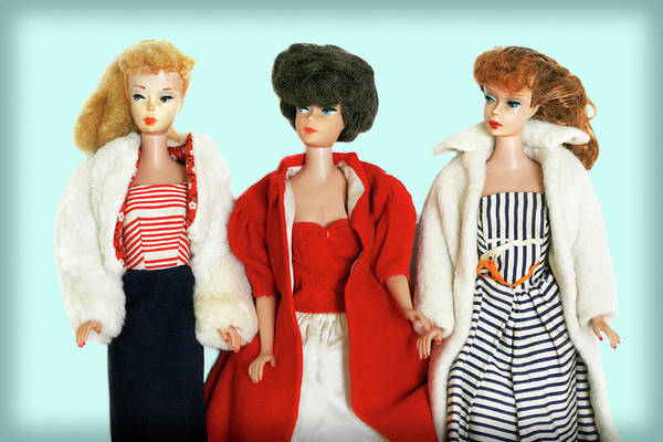 Photograph - Baby It's Cold Outside Barbies by Marilyn Hunt