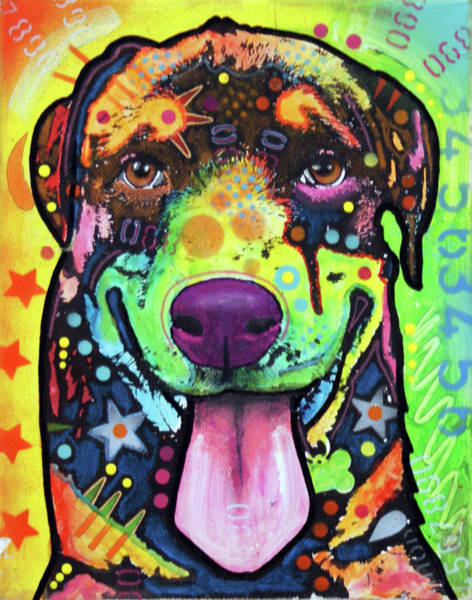 Wall Art - Painting - Baby Rottweiler by Dean Russo Art