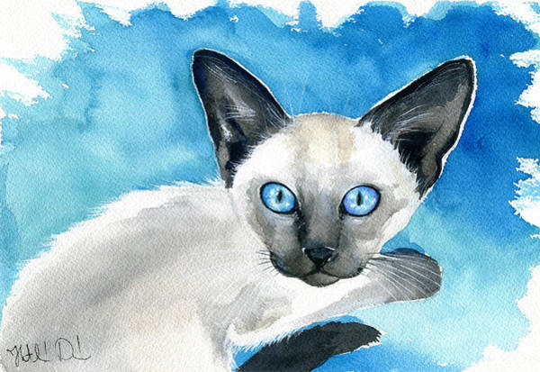 Painting - Baby Siamese Chic by Dora Hathazi Mendes