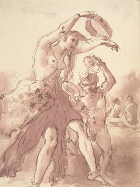 Drawing - Bacchante by William Etty