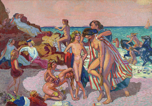 The Clash Wall Art - Painting - Bacchus And Ariadne, 1907 by Maurice Denis