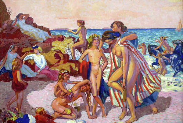 Wall Art - Painting - Bacchus And Ariadne - Digital Remastered Edition by Maurice Denis