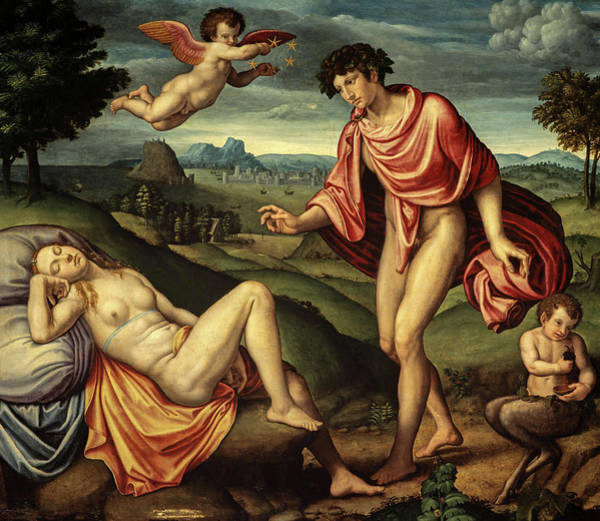 Wall Art - Painting - Bacchus And Ariadne by Netherlandish School