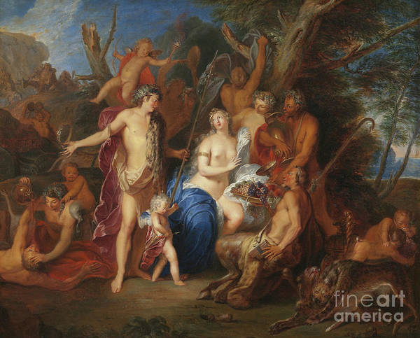 Wall Art - Painting - Bacchus And Ariadne by Nicolas Bertin