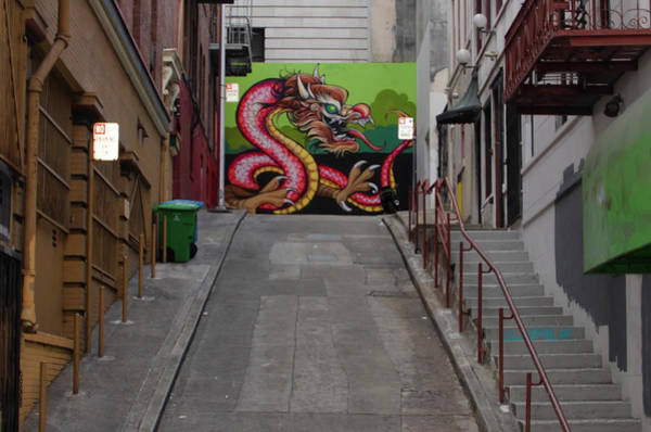 Photograph - Back Alley Dragon - Chinatown San Francisco by Bill Cannon
