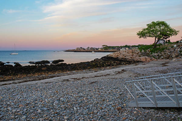 Photograph - Back Beach Rockport Ma At Sunser Red Clouds Walkway by Toby McGuire