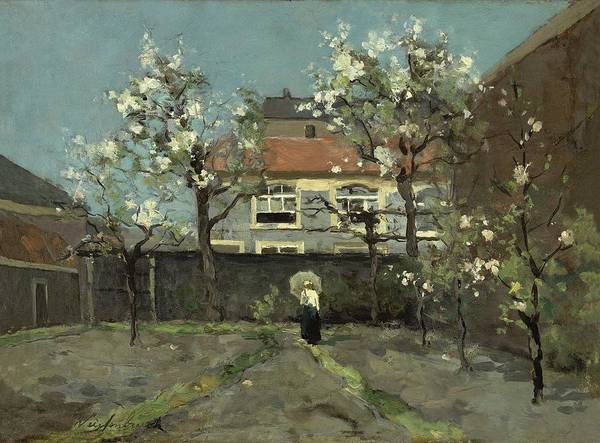 Wall Art - Painting - Back-garden At The Kazernestraat, The Hague Jan Hendrik Weissenbruch by Celestial Images