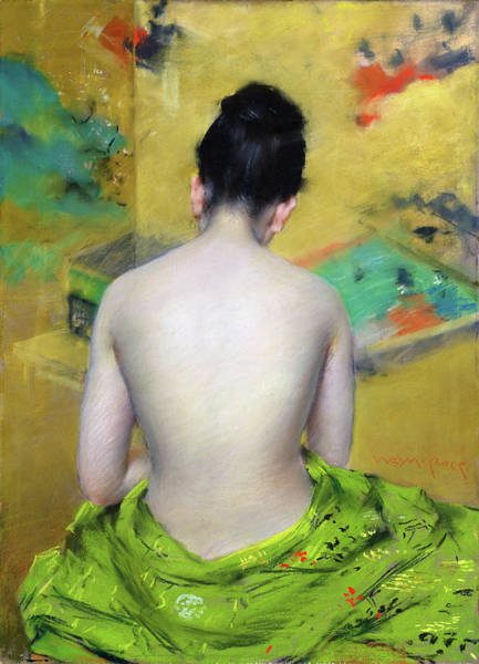 Wall Art - Painting - Back Of A Nude - Digital Remastered Edition by William Merritt Chase