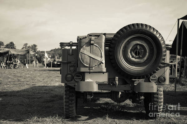 Photograph - Back Of A World War II Era Military Us Army Jeep by Edward Fielding