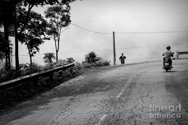 Wall Art - Photograph - Back Roads Of Vietnam Black White  by Chuck Kuhn