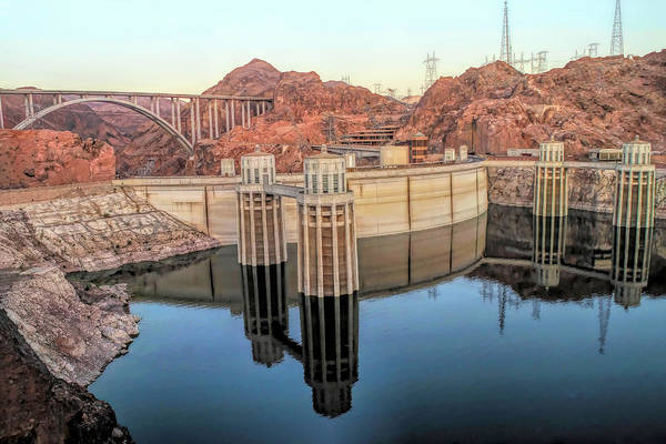 Wall Art - Photograph - Back Side Of Hoover Dam by Donna Kennedy
