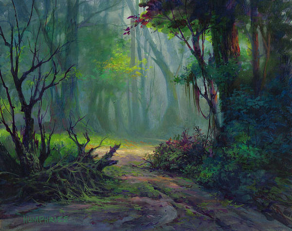 Wall Art - Painting - Back Trail by Michael Humphries