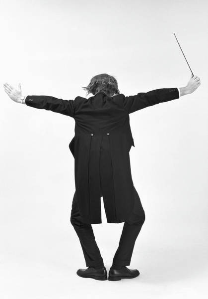 Photograph - Back View Of Conductor by Alfred Gescheidt