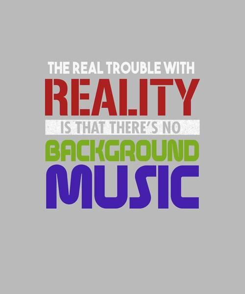 Digital Art - Background Music by Shopzify