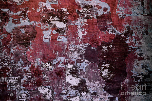 Wall Art - Photograph - Background Of Old Weathered Wall by Samuele Deiana