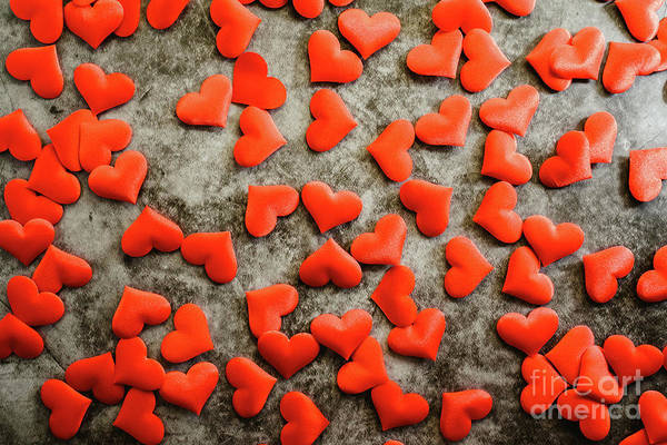 Photograph - Background Of Red Romantic Hearts To Usar On Valentine's Day by Joaquin Corbalan